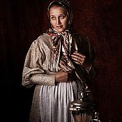 Русский стиль ручной работы. Ярмарка Мастеров - ручная работа Платье.. Handmade.