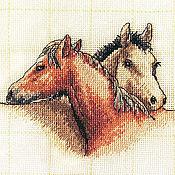 Картины и панно ручной работы. Ярмарка Мастеров - ручная работа Лошадки - подружки. Handmade.
