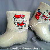 Работы для детей, handmade. Livemaster - original item children`s boots are