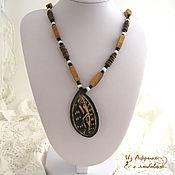 Украшения handmade. Livemaster - original item necklace from ebony mercy of god. Handmade.