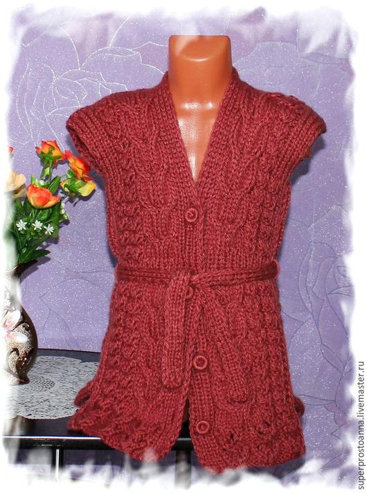 Одежда для девочек, ручной работы. Ярмарка Мастеров - ручная работа. Купить жилет детский вязаный безрукавка детская. Handmade.