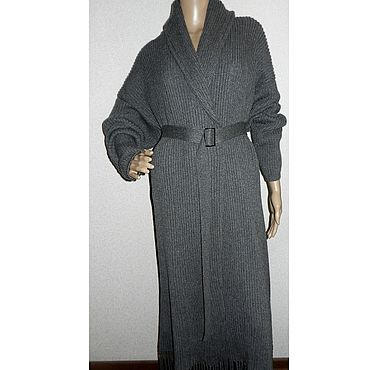 Clothing. Livemaster - original item Oversized long Merino cardigan with Brunella cashmere. Handmade.