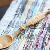 """Для дома и интерьера ручной работы. Ярмарка Мастеров - ручная работа ложечка из дерева """"Причастие"""". Handmade."""