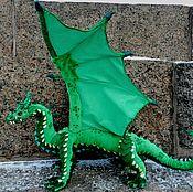 Мягкие игрушки ручной работы. Ярмарка Мастеров - ручная работа Изумрудный дракон Нидхёгг. Handmade.