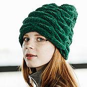 Аксессуары handmade. Livemaster - original item Velour hat Wave. Handmade.