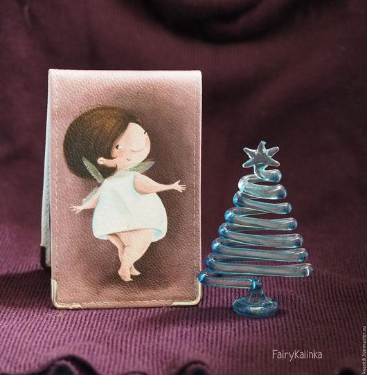 Кожаная визитница с феечками от иллюстратора Elina Ellis  Магазин волшебных феечек. FairyKalinka