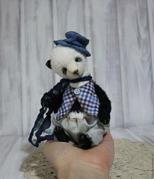 Мишки Тедди ручной работы. Ярмарка Мастеров - ручная работа. Купить Панда Буба. Handmade. Чёрно-белый, вискоза