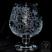 Посуда handmade. Livemaster - original item Hounds. brandy glass. Handmade.
