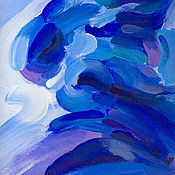 Картины и панно ручной работы. Ярмарка Мастеров - ручная работа Синие всплески. Handmade.