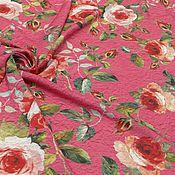Ткани ручной работы. Ярмарка Мастеров - ручная работа ткань штапель розы. Handmade.