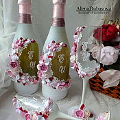 """Свадебный салон ручной работы. Ярмарка Мастеров - ручная работа Комплект аксессуаров """"Пудровый розовый+бордо"""". Handmade."""