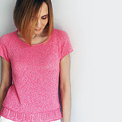 Одежда ручной работы. Ярмарка Мастеров - ручная работа Топик розовый. Handmade.