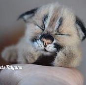 Куклы и игрушки handmade. Livemaster - original item Copyright felted toy small lynx Melissa (Needle felted). Handmade.
