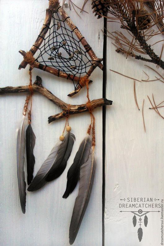 """Ловцы снов ручной работы. Ярмарка Мастеров - ручная работа. Купить Ловец снов """"Витарр"""" - лесной воин. Handmade. Коричневый"""