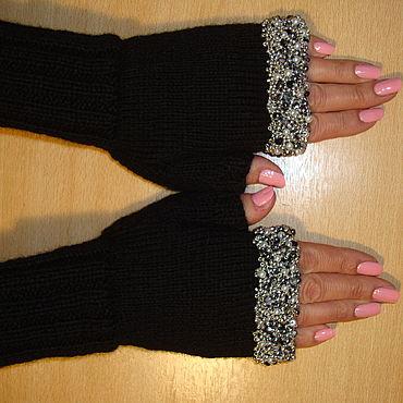 Аксессуары ручной работы. Ярмарка Мастеров - ручная работа Митенки перчатки без пальцев вязаные – Ультракомфорт. Handmade.