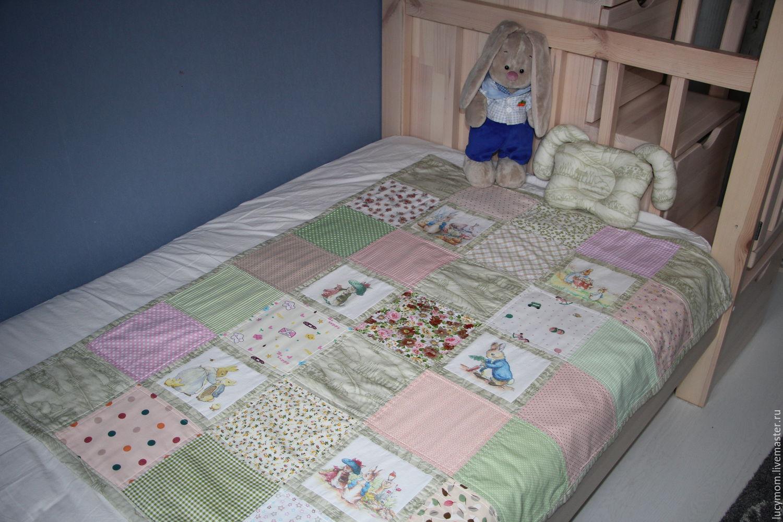 """Текстиль, ковры ручной работы. Ярмарка Мастеров - ручная работа. Купить Комплект для малыша """"Кролик Питер и его друзья"""". Handmade."""