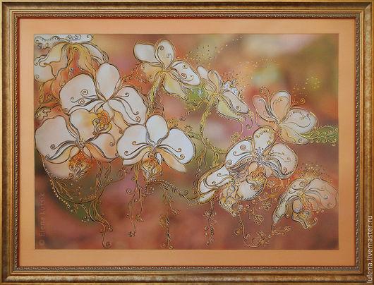 Декоративная картина «Орхидеи» Художник-дизайнер - Елена Луцик