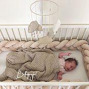 Текстиль ручной работы. Ярмарка Мастеров - ручная работа Бортик косичка в детскую кровать. Handmade.
