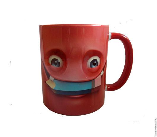 """Кружки и чашки ручной работы. Ярмарка Мастеров - ручная работа. Купить Кружка """" Red"""". Handmade. Ярко-красный, другу"""
