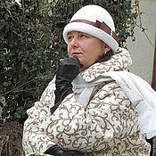 """Одежда ручной работы. Ярмарка Мастеров - ручная работа Пальто валяное """" Рисунки на снегу""""размер 54. Handmade."""