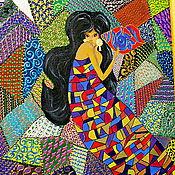 Картины и панно ручной работы. Ярмарка Мастеров - ручная работа картина акрилом Каприза. Handmade.
