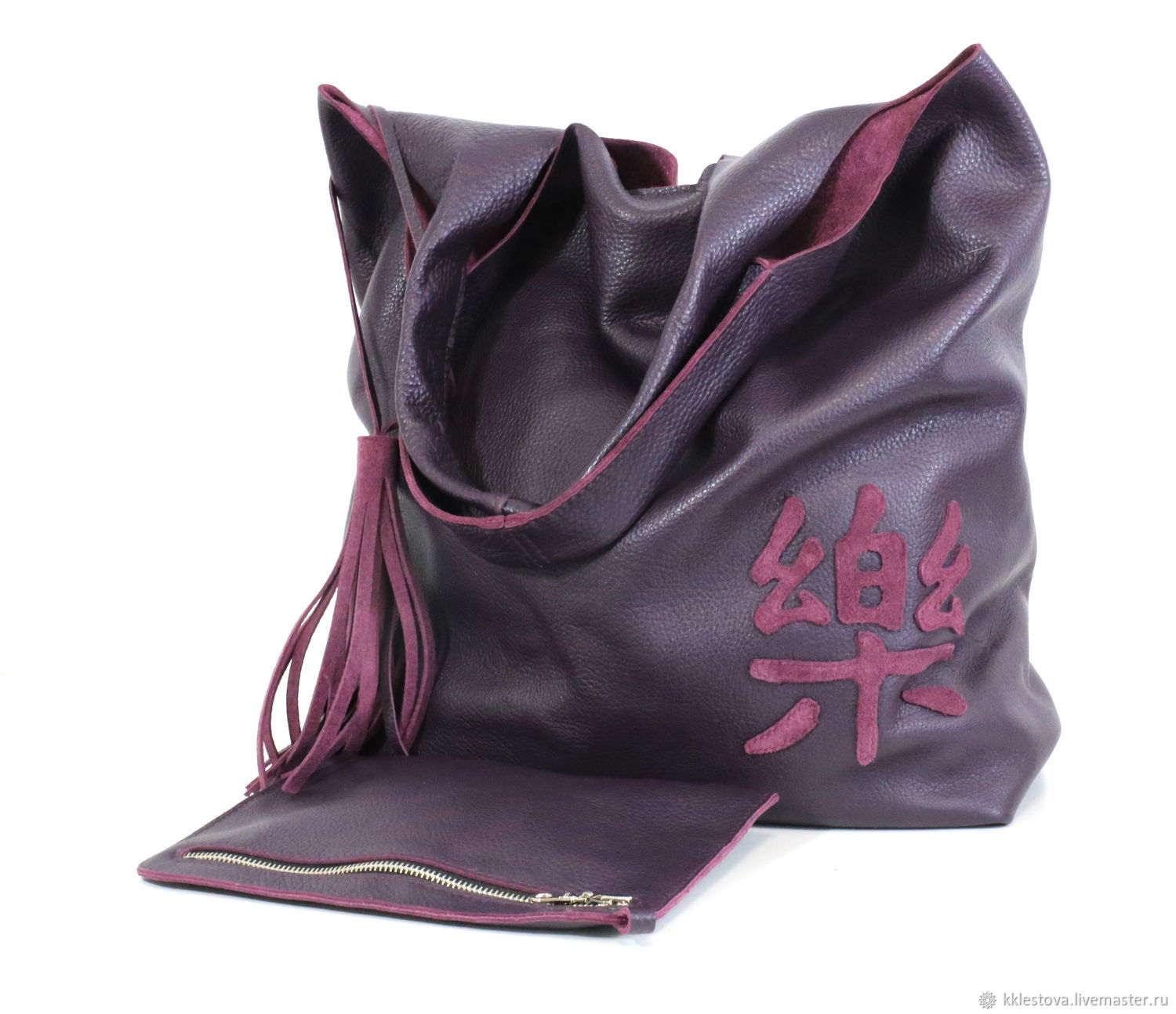 Bag - Bag Pack - large size with cosmetic bag and applique, Sacks, Moscow,  Фото №1