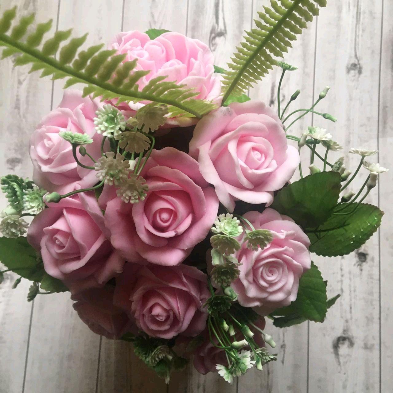 Розовый букет. Мыло ручной работы. Подарок женщине, Мыло, Москва,  Фото №1