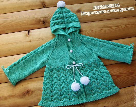 """Одежда для девочек, ручной работы. Ярмарка Мастеров - ручная работа. Купить Вязаная курточка для девочки в стиле """"Маша и Медведь"""". Handmade."""