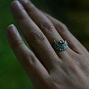 Кольца ручной работы. Ярмарка Мастеров - ручная работа Кольцо - Луна из ретикулированного серебра. Handmade.