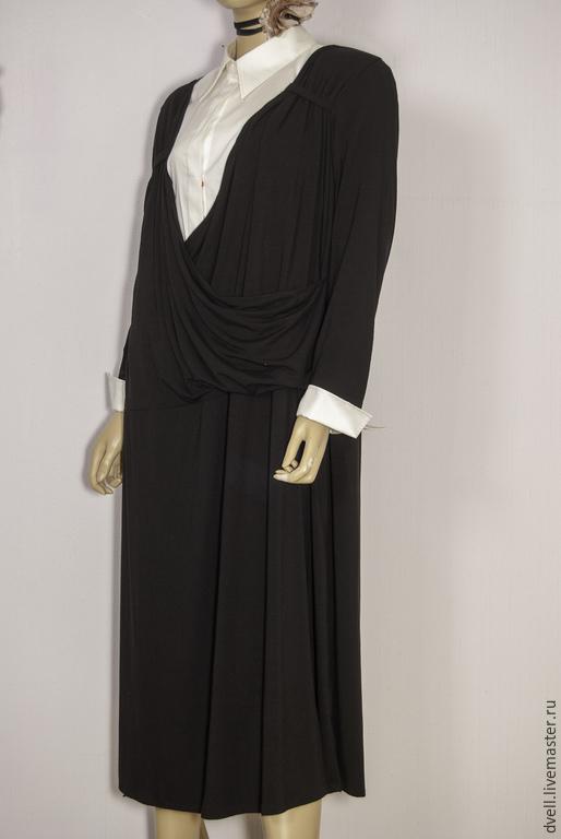 Костюмы ручной работы. Ярмарка Мастеров - ручная работа. Купить платье  костюм трикотаж классика. Handmade. Черный, для женщины, осень