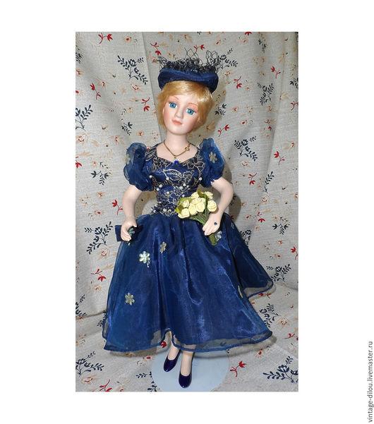 Винтажные куклы и игрушки. Ярмарка Мастеров - ручная работа. Купить Фарфоровая кукла принцесса Диана от Янус Ностальджи (Yanus Nostalgie). Handmade.