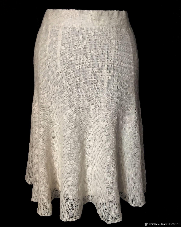 Summer white knitted skirt, Italian Linen, Skirts, Noginsk,  Фото №1
