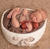 """Одежда ручной работы. Ярмарка Мастеров - ручная работа Корзина для фотосессии новорожденных """"Пломбир"""". Handmade."""