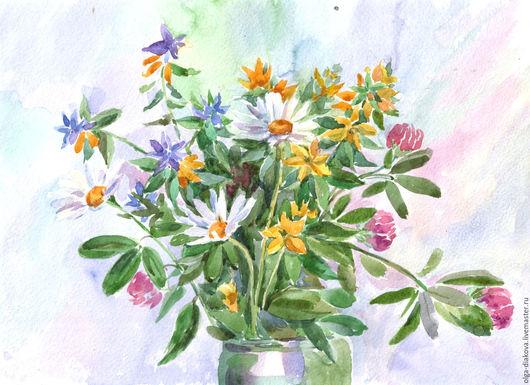 Картины цветов ручной работы. Ярмарка Мастеров - ручная работа. Купить Летний букет. Handmade. Ромашки, букет, лето, цветы