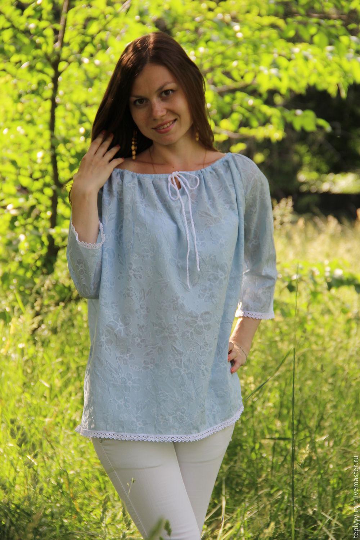 Купить летние блузки из хлопка