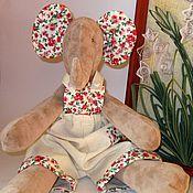 Куклы и игрушки handmade. Livemaster - original item Soft toy Tilda Elephant Sasha Gift for girls on holiday. Handmade.