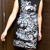 """Одежда ручной работы. Ярмарка Мастеров - ручная работа платье """"Дракон-гжель"""". Handmade."""