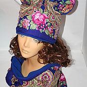 """Аксессуары ручной работы. Ярмарка Мастеров - ручная работа Комплект """"Синева"""" шапка+шарф-снуд. Handmade."""