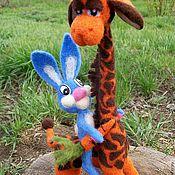 Куклы и игрушки ручной работы. Ярмарка Мастеров - ручная работа Жираф, заяц, мишки  и другие. Handmade.