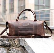 Спортивная сумка ручной работы. Ярмарка Мастеров - ручная работа Спортивная сумка Sport&Travel. Кожаная коричневая дорожная сумка. Handmade.