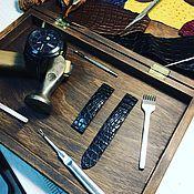 Аксессуары ручной работы. Ярмарка Мастеров - ручная работа Ремешки на часы из кожи КРС и Экзотической кожи. Handmade.