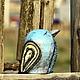 Вазы ручной работы. Ярмарка Мастеров - ручная работа. Купить Птица гордая. Handmade. Голубой, глина, подарок, птица, глазури
