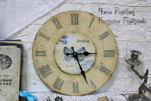 """Часы для дома ручной работы. Ярмарка Мастеров - ручная работа. Купить Часы """"Papillon"""". Handmade. Бежевый, часы настенные"""