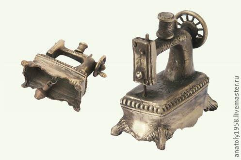 """Колокольчики ручной работы. Ярмарка Мастеров - ручная работа. Купить Колокольчик  из бронзы """"Швейная машинка""""литье -бронза. Handmade. Бронза"""
