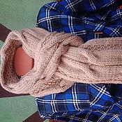 Аксессуары ручной работы. Ярмарка Мастеров - ручная работа мужской шарф спицами. Handmade.