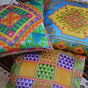 Для дома и интерьера handmade. Livemaster - original item Set of decorative pillows Magreb, ,45h45 cm, ,4 PCs. Handmade.