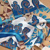 """Аксессуары ручной работы. Ярмарка Мастеров - ручная работа Батик шарф """"Геoметрия Хаоса"""". Handmade."""