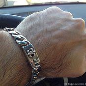 Украшения handmade. Livemaster - original item Bracelet of silver 925 with Bourbon lily. Handmade.