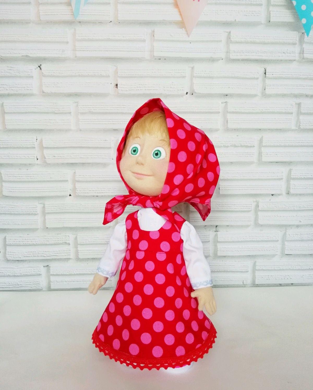 """Маша из мультфильма """"Маша и медведь"""" кукла текстильная, Куклы, Нефтеюганск, Фото №1"""