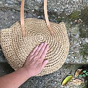 Сумки и аксессуары handmade. Livemaster - original item Stylish wicker bag, large summer bag made of straw, fashion bags. Handmade.